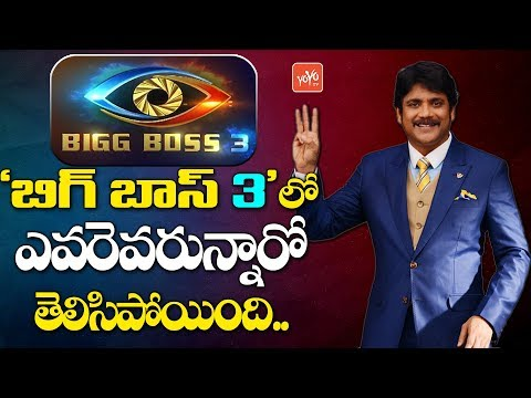 Bigg Boss Telugu Season 3 Contestants List | Star Maa | Bigg