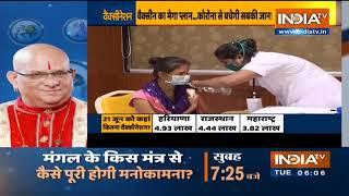 COVID Vaccination: एक दिन में लगाए गए 80 लाख से ज्यादा टीके, खुश होकर PM मोदी बोले- शाबाश इंडिया - INDIATV