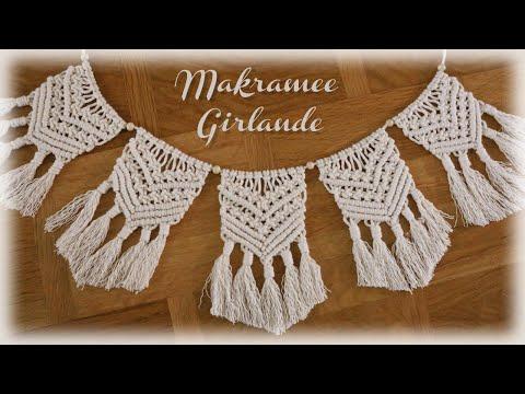 Makramee Girlande * DIY * Macrame Banner [eng sub]