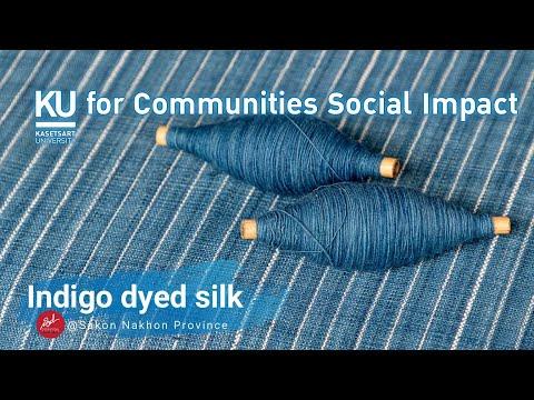 Indigo-Dyed-Silk-ผ้าไหม-ผ้าย้อ