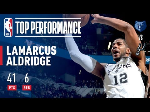 LaMarcus Aldridge Scores Season-High 41 Points vs. Grizzlies | November 29, 2017