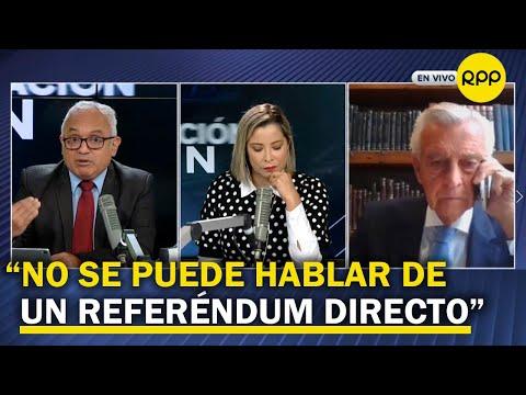"""Ferrero Costa: """"Boluarte estaría actuando mal, no se pude sacar firmas para un referéndum"""""""