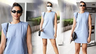 Actress Akshara Gowda Spotted At Airport | Celebrities Airport Videos | TFPC - TFPC