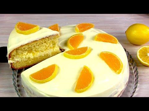 Самый Нежный и Воздушный ЛИМОННЫЙ ТОРТ! ? Простой тортик к Чаю / LEMON CAKE