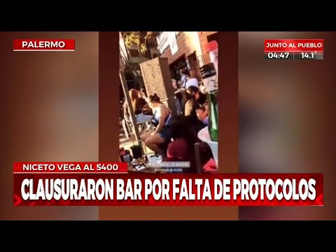 Clausuran bar en Palermo por falta de protocolos