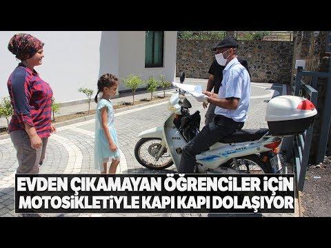 Antalya'da Öğretmenden Öğrencilerine Motosikletiyle Ödev Servisi
