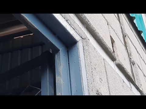 วงกบประตูจากเหล็กกล่อง-ติดตั้ง
