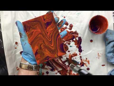 ( 727 ) Acrylic pour wild colours