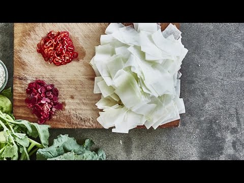 IKEA Ideas: How to make lacto-fermented kohlrabi with chilli and rhubarb