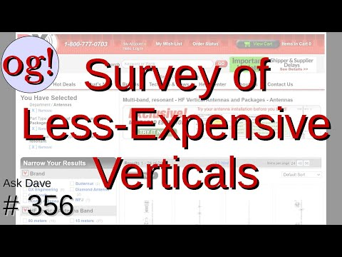 Survey of Less-Expensive Vertical Antennas (#356)