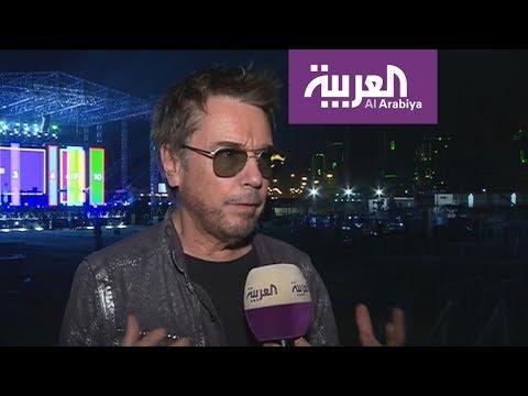 الفنان العالمي جان ميشيل جارر لأول مرة يضئ سماء و أفق الرياض