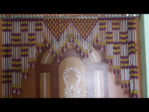 Download Youtube To Mp3: AWESOME DOOR HANGING TORAN MAKING AT HOME \\ HOW  TO   MAKE DOOR HANGING TORAN FROM CRISTAL MOTI