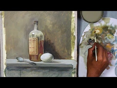 Realistic Still Life in Acrylic | step by step Painting-  Episode-3