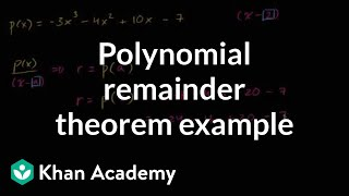 Polynomial remainder theorem example