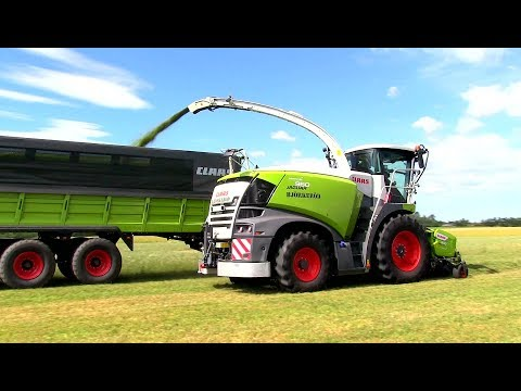 Forage harvester at work 2018 borgeby