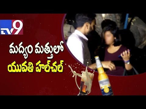 connectYoutube - Drunk lady driver refuses breathalyser test - TV9