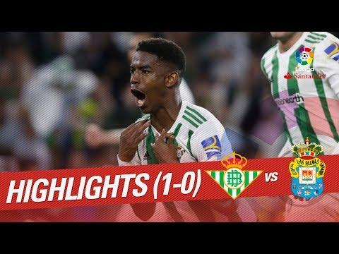 Resumen de Real Betis vs UD Las Palmas (1-0)