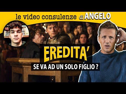 Se il padre lascia L'EREDITÀ a UN SOLO FIGLIO | avv. Angelo Greco