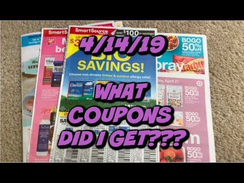 4/14/19 WHAT COUPONS DID I GET??