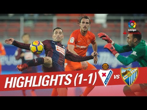 Resumen de SD Eibar vs Málaga CF (1-1)