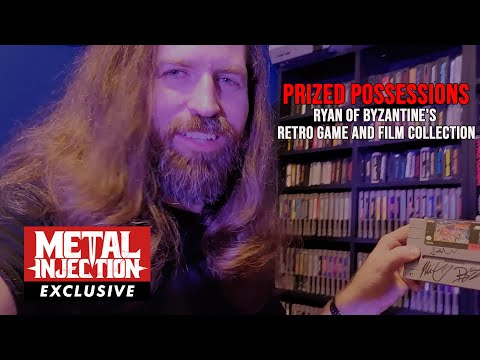 Ryan of BYZANTINE's Home Tour Of His Retro Game And Film Collection   Metal Injection