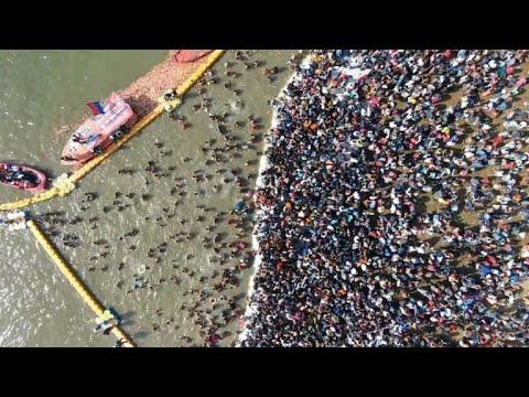 مدينة الله آباد تشهد أحد أكبر المهرجانات الدينية في العالم