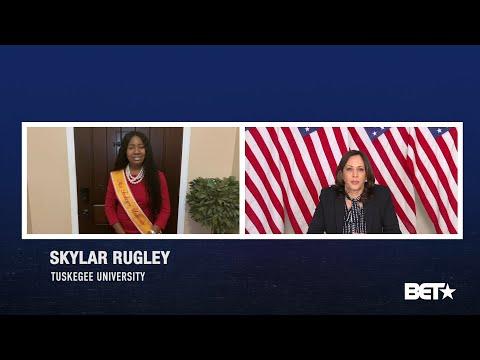 Miss Tuskegee University Skylar Rugley interview with Sen. Kamala Harris.