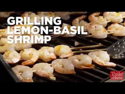 Grilling Lemon-Basil Shrimp
