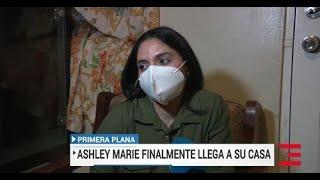 Ashley Marie Torres Feliciano llega a casa de su mama