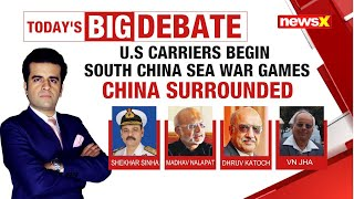 U.S Carriers begin South China Sea War Games | China Surrounded | NewsX - NEWSXLIVE