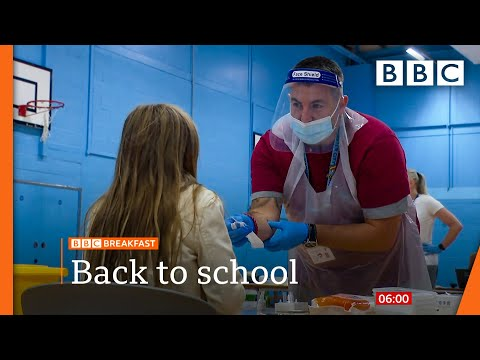Millions of pupils return to school amid Covid spike concern @BBC News live 🔴 BBC