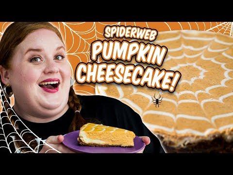 How to Make Elise's Halloween Spiderweb Pumpkin Cheesecake | Smart Cookie | Allrecipes.com