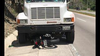 Conductor de una motocicleta involucrado en accidente de tránsito en El Progreso
