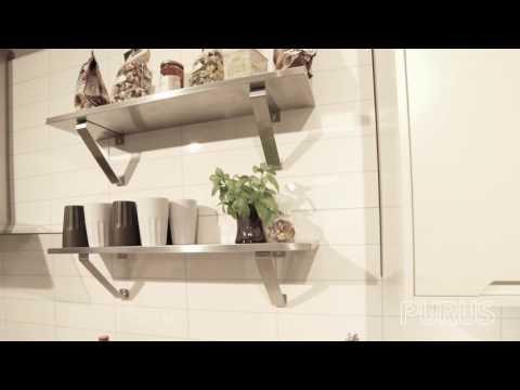 Purus diskbänkar i rostfritt stål skapar en stilren miljö
