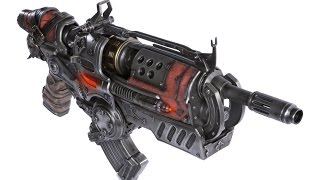Gears of War 3 Hammerburst II Full Scale Replica Unboxing
