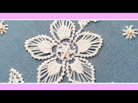 Embroidery macrame Romanian * flower's petal & leaf filling * #malina_gm