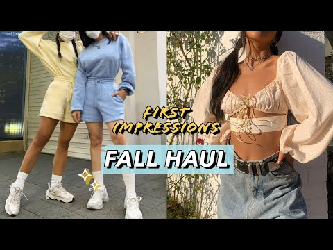 FIRST IMPRESSIONS HAUL: Comfy Fall Basics feat. White Fox Boutique! | Nava Rose