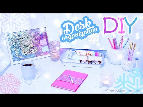 6 DIY Desk Organization and Decor Ideas For Winter – Winter Style Desk Decorations and Organizers