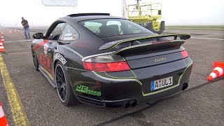 980HP Porsche 996 Turbo by 61-Performance REVS  DRAG RACING!