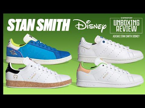 Duplas De Personagens DISNEY Reunidos Sobre Um Clássico   UNBOXING+REVIEW adidas Stan Smith