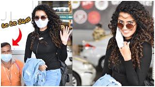 Actress Anupama Parameswaran Spotted At Hyderabad Airport   Telugu Actress Airport VIdeos - TFPC