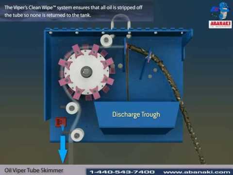 The Oil Viper Tube Skimmer - Abanaki Oil Skimmers