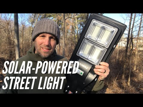 LANGY 120 Watts Solar Street Light for Parking Lot, Yard, Garage, Garden, and More