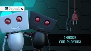Twin Robots - 100% Walkthrough - All 28 levels, all batteries, both robots alive, trophy guide