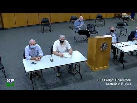 BET Budget Committee, September 14, 2021