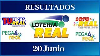 Lotería Real Resultados de hoy 20 de Junio del 2021