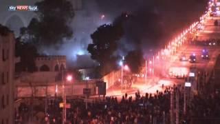 بالفيديو ..اشتباكات بمحيط قصر الاتحادية
