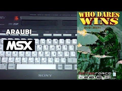 Who Dares Wins (Retroforce, 2016) MSX2 [734] Walkthrough Comentado