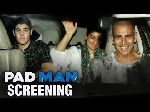 Padman Screening : Akshay Kumar With Family Watch Padman