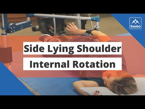 SaeboMAS Exercise - Side Lying Shoulder Internal Rotation